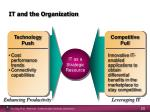 it and the organization