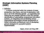 strategic information systems planning sisp