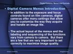 digital cameras menus and controls8
