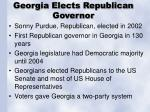 georgia elects republican governor