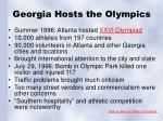 georgia hosts the olympics
