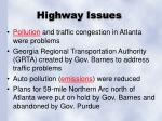 highway issues
