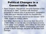 political changes in a conservative south1