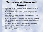 terrorism at home and abroad