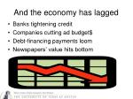 and the economy has lagged