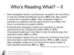 who s reading what ii