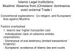 islamic legal institutions muslims absence from christians dominance over external trade i