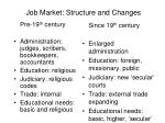 job market structure and changes