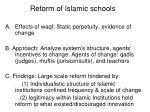 reform of islamic schools