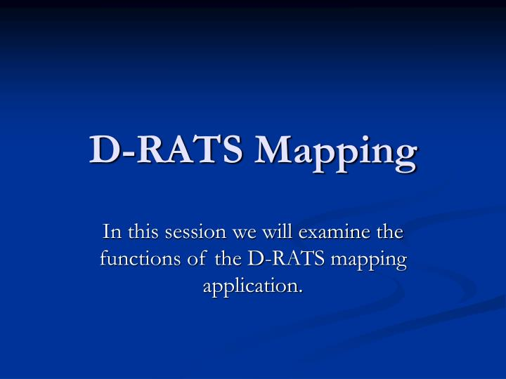 d rats mapping n.