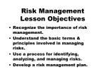 risk management lesson objectives