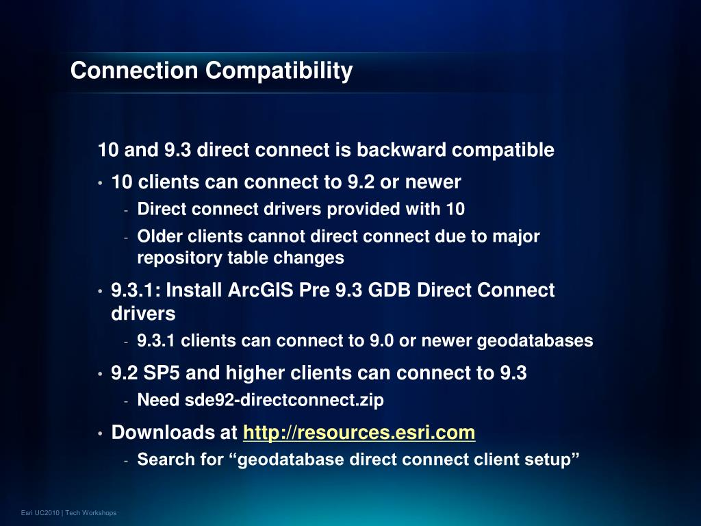 Connection Compatibility