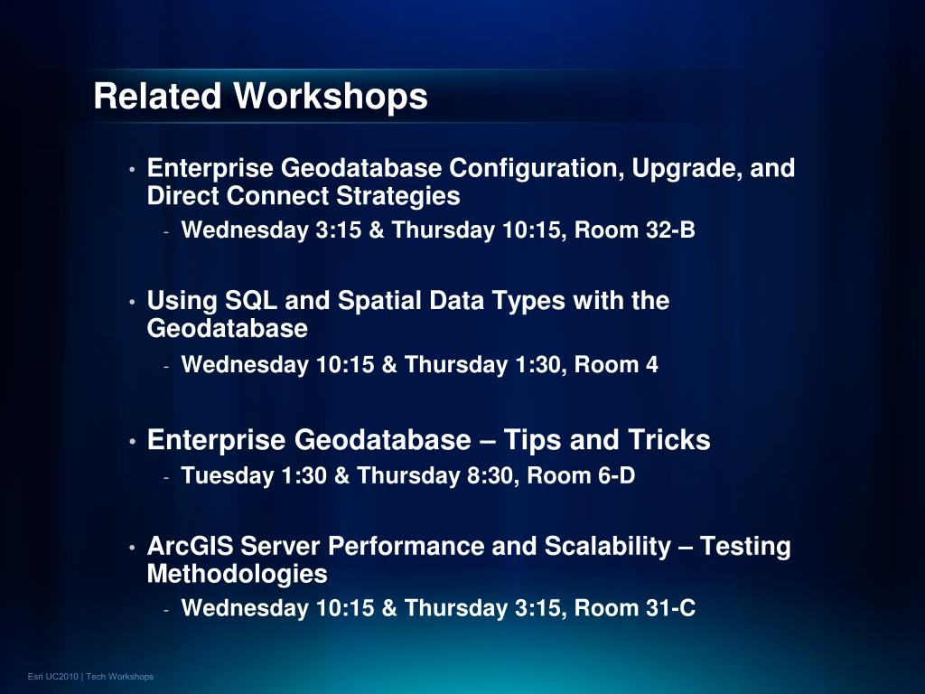Related Workshops