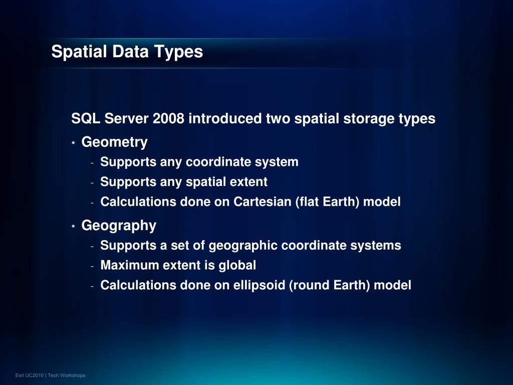 Spatial Data Types