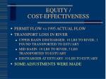 equity cost effectiveness