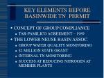 key elements before basinwide tn permit