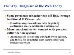 the way things are on the web today