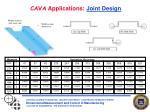 cava applications joint design