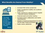 what benefits are desired from mobility