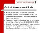 ordinal measurement scale