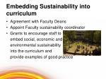 embedding sustainability into curriculum
