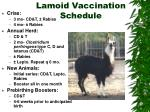 lamoid vaccination schedule