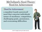 mcclelland s need theory need for achievement