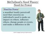 mcclelland s need theory need for power