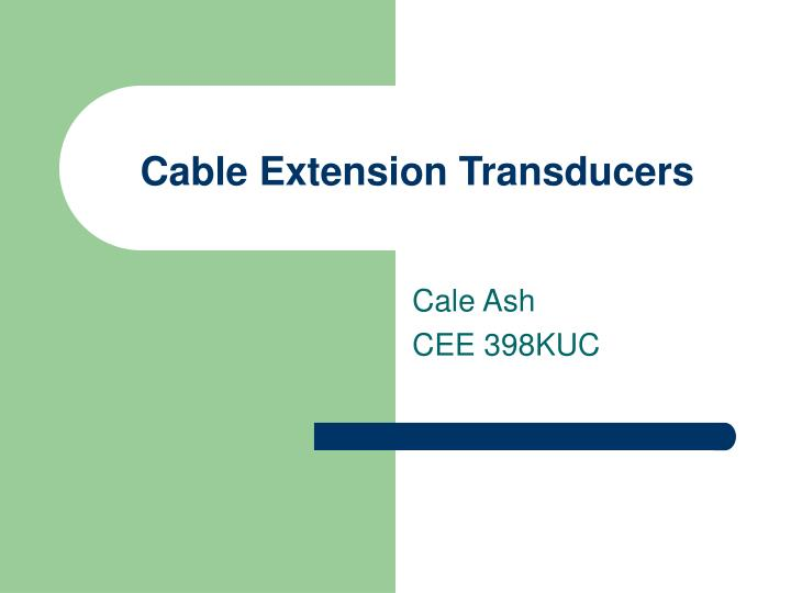 cable extension transducers n.