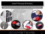 projet tm personal 3d printers