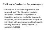 california credential requirements1