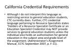 california credential requirements2