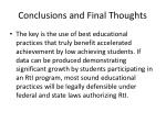 conclusions and final thoughts1