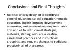 conclusions and final thoughts2