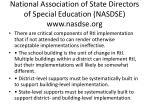 national association of state directors of special education nasdse www nasdse org
