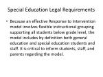 special education legal requirements