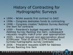 history of contracting for hydrographic surveys