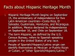 facts about hispanic heritage month