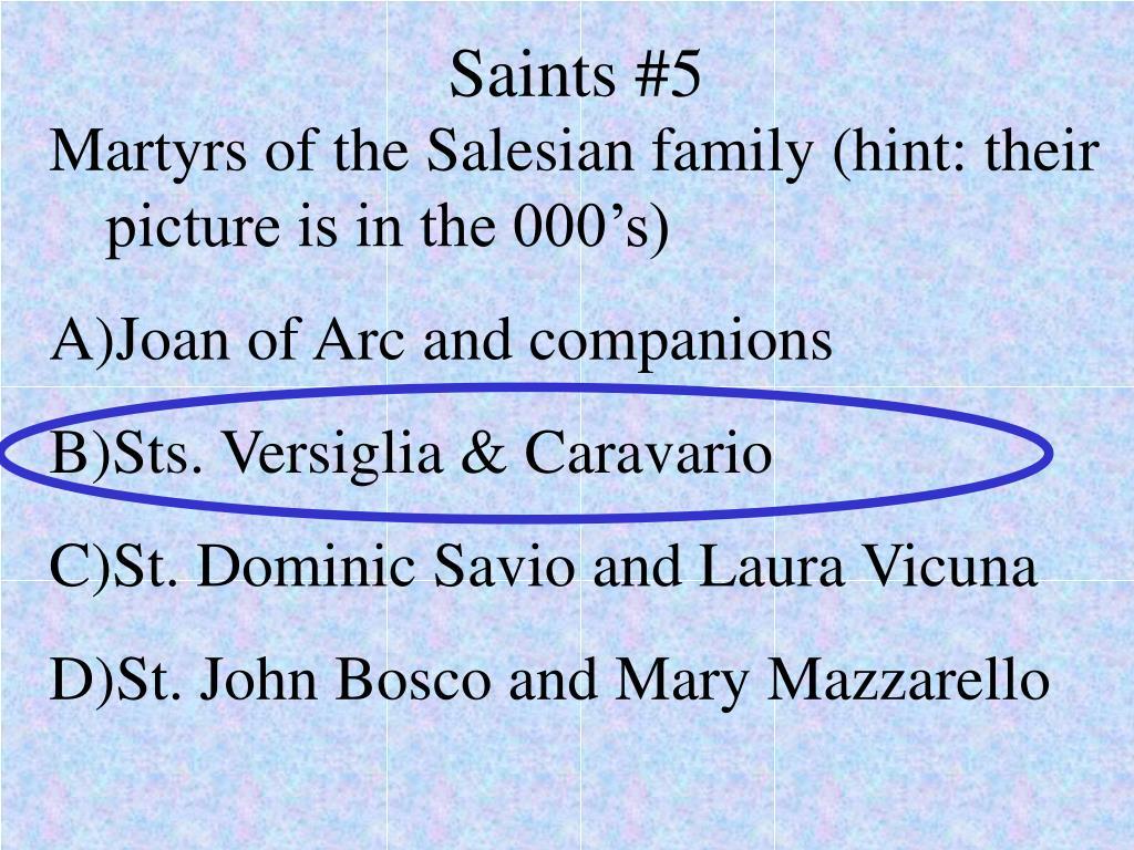 Saints #5