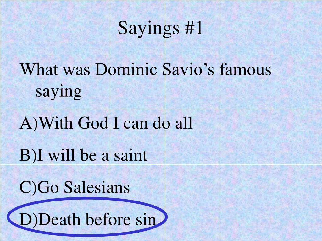Sayings #1