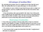 advantages of median filter