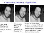 conservative smoothing applications1