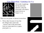 line detection guidelines for use