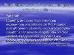 storytelling as a tool for encouraging reflective writing