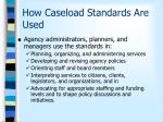 how caseload standards are used