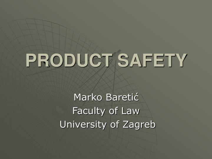 product safety n.