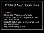 pittsburgh sleep quality index buysse dj et al 1989 psychiatry res 28 193 213