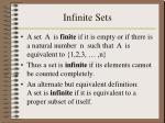 infinite sets