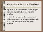 more about rational numbers