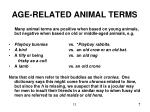 age related animal terms